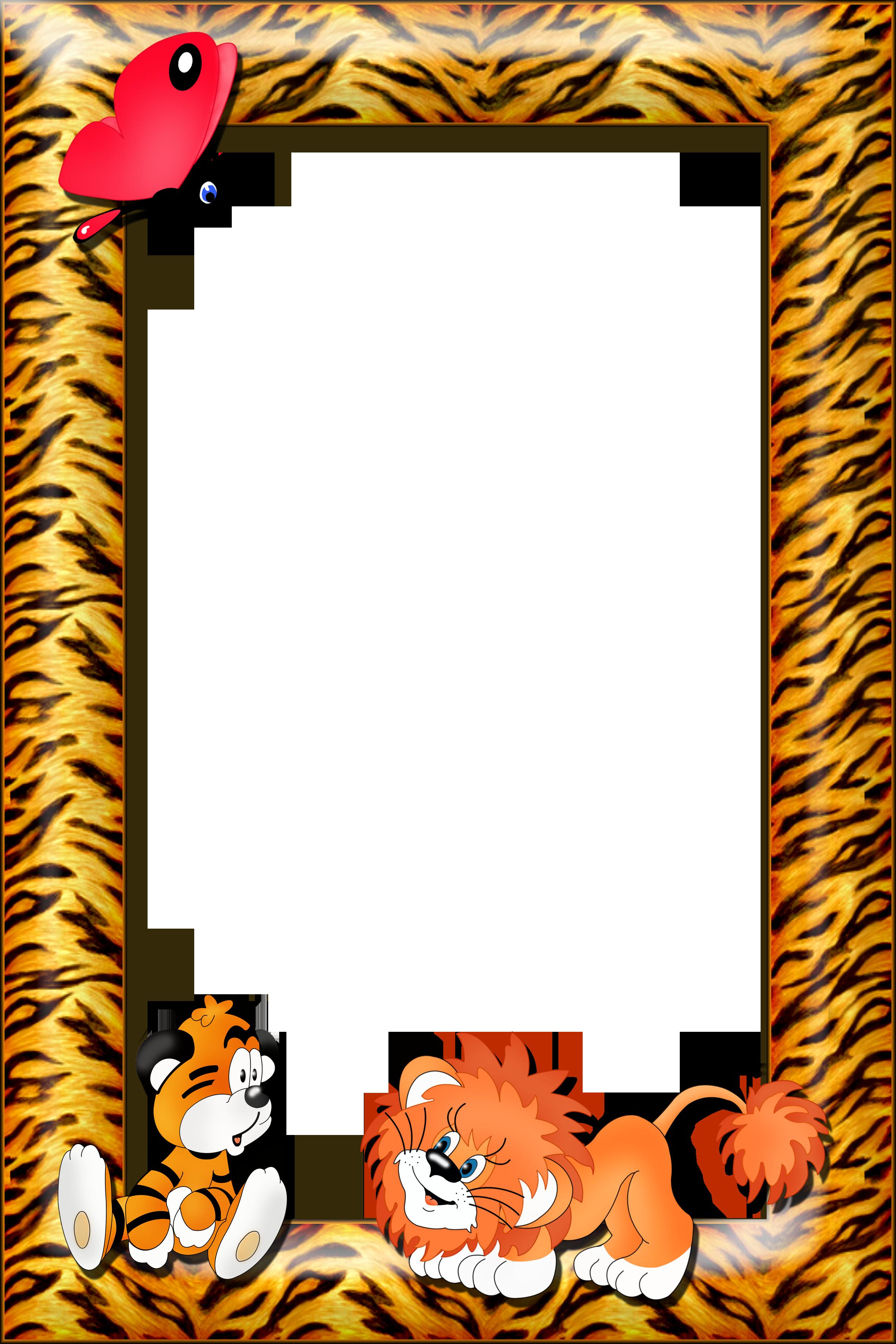 Tiger clipart frame #13