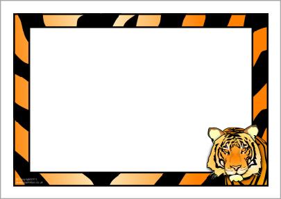 Tiger clipart frame #12