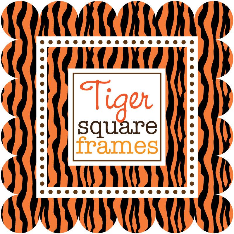 Tiger clipart frame #6