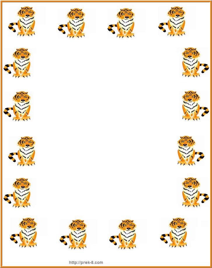 Tiger Print clipart jungle animal #5