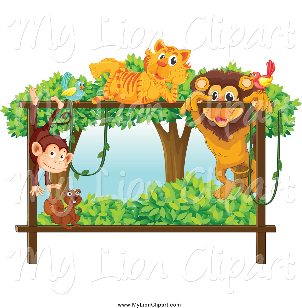 Zoo clipart lion tiger Forest Squirrel Stock Bird Monkey
