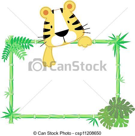 Tiger clipart frame #10