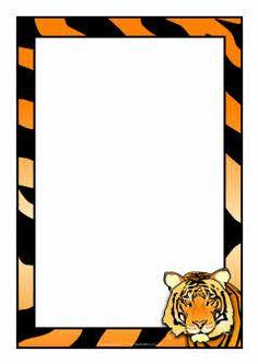 Tiger clipart frame #8