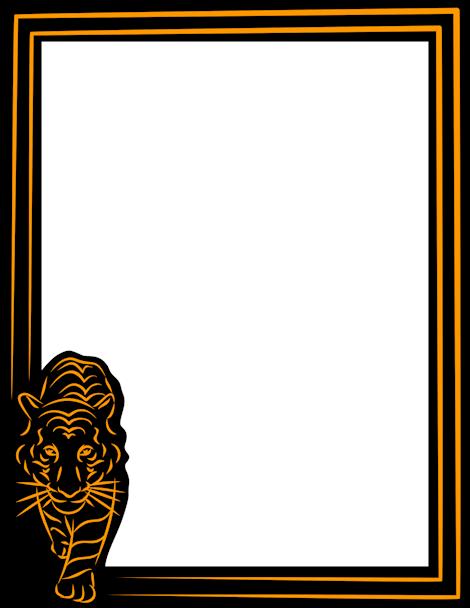 Tiger clipart frame #5