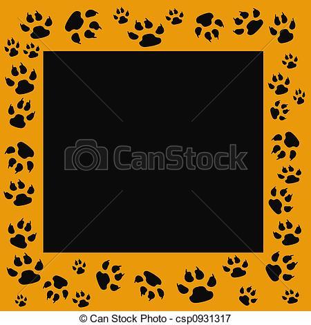 Tiger clipart frame #9