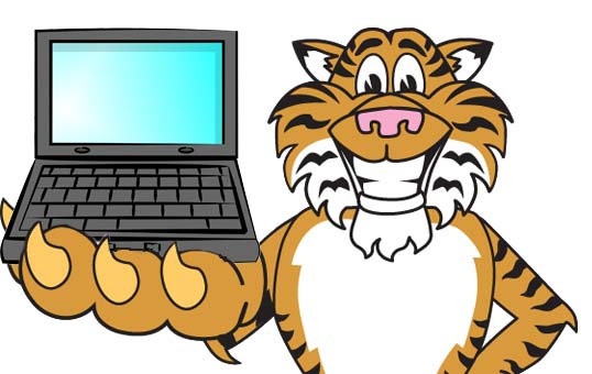 Tiiger clipart friendly #3