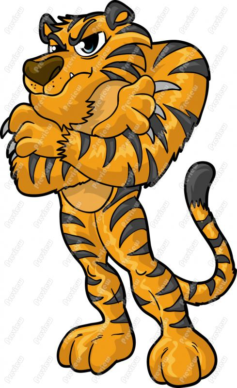 Tiiger clipart funny #7
