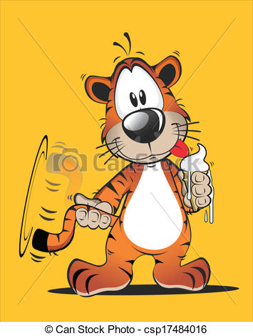 Tiiger clipart funny #10