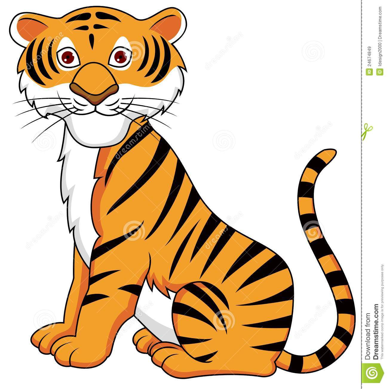 Tiiger clipart funny #4