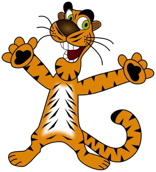 Baby Animal clipart tiger tail Happy Cartoon  TIGER 398