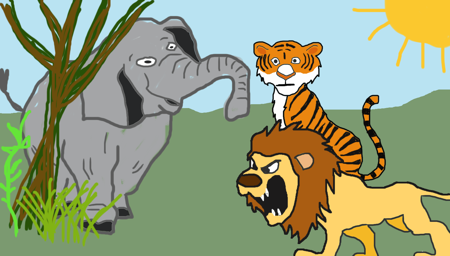 Tiiger clipart learned #8