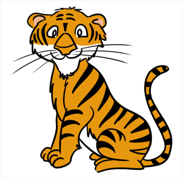 Tiger clipart little #5