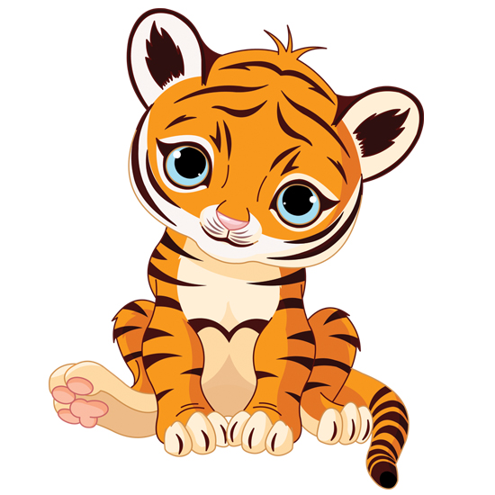 Tiger clipart little #7