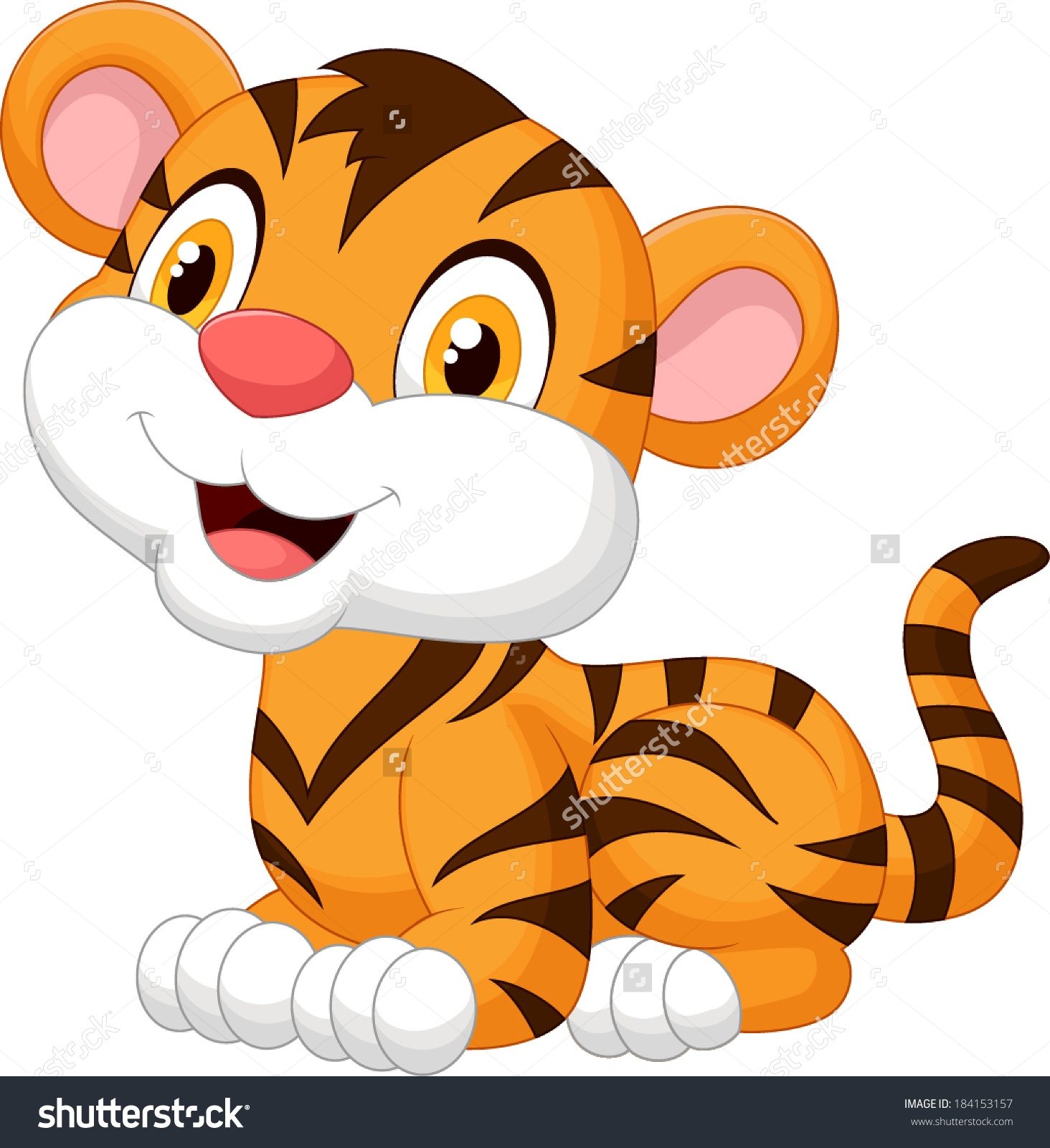 Tiger clipart little #9