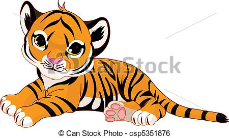 Tiger clipart little #3