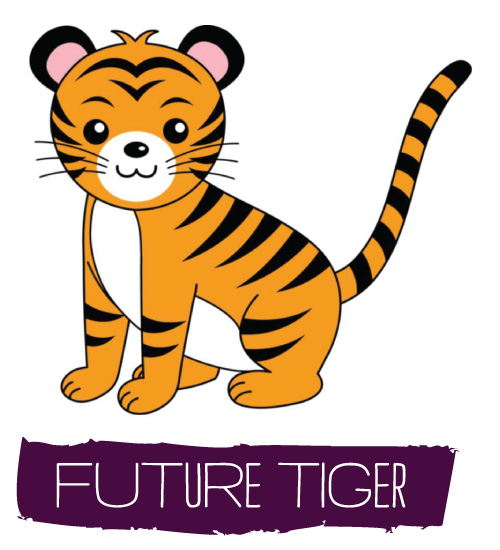 Tiger clipart little #8