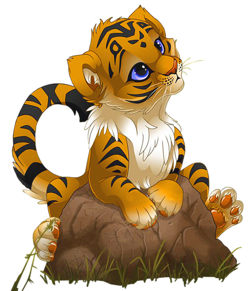 Tiger clipart little #4