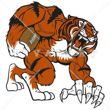Tigres clipart mean #2