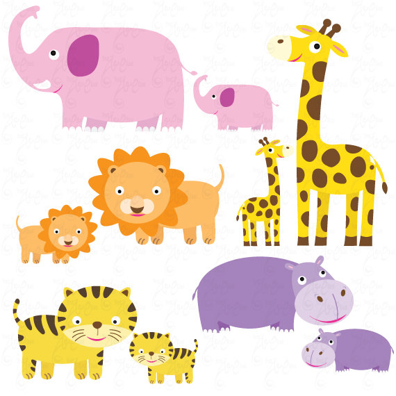 Mommy clipart baby animal Animal baby file baby Mom