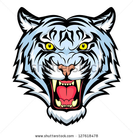 Tiger clipart open mouth #3