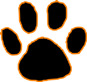 Tiger clipart orange #5