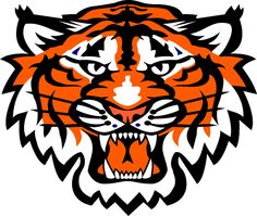 Tiger clipart orange #12