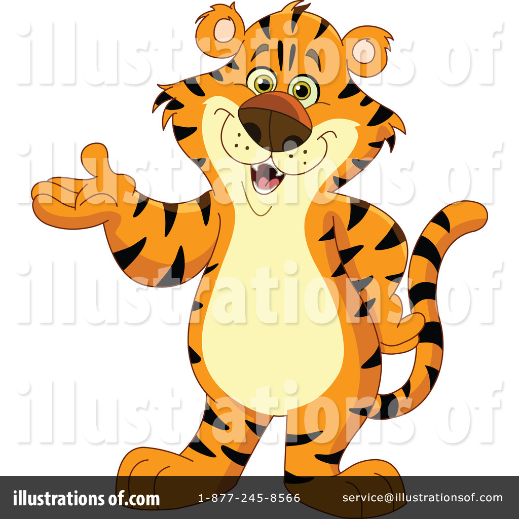 Tiger clipart orange #6