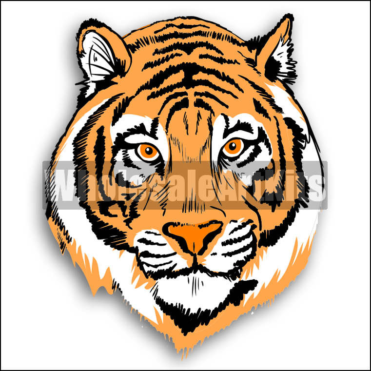 Tiger clipart orange #10