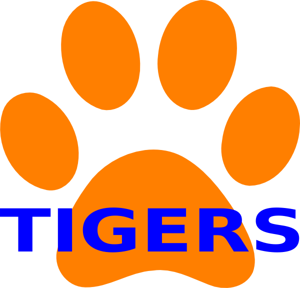 Tiger clipart orange #8