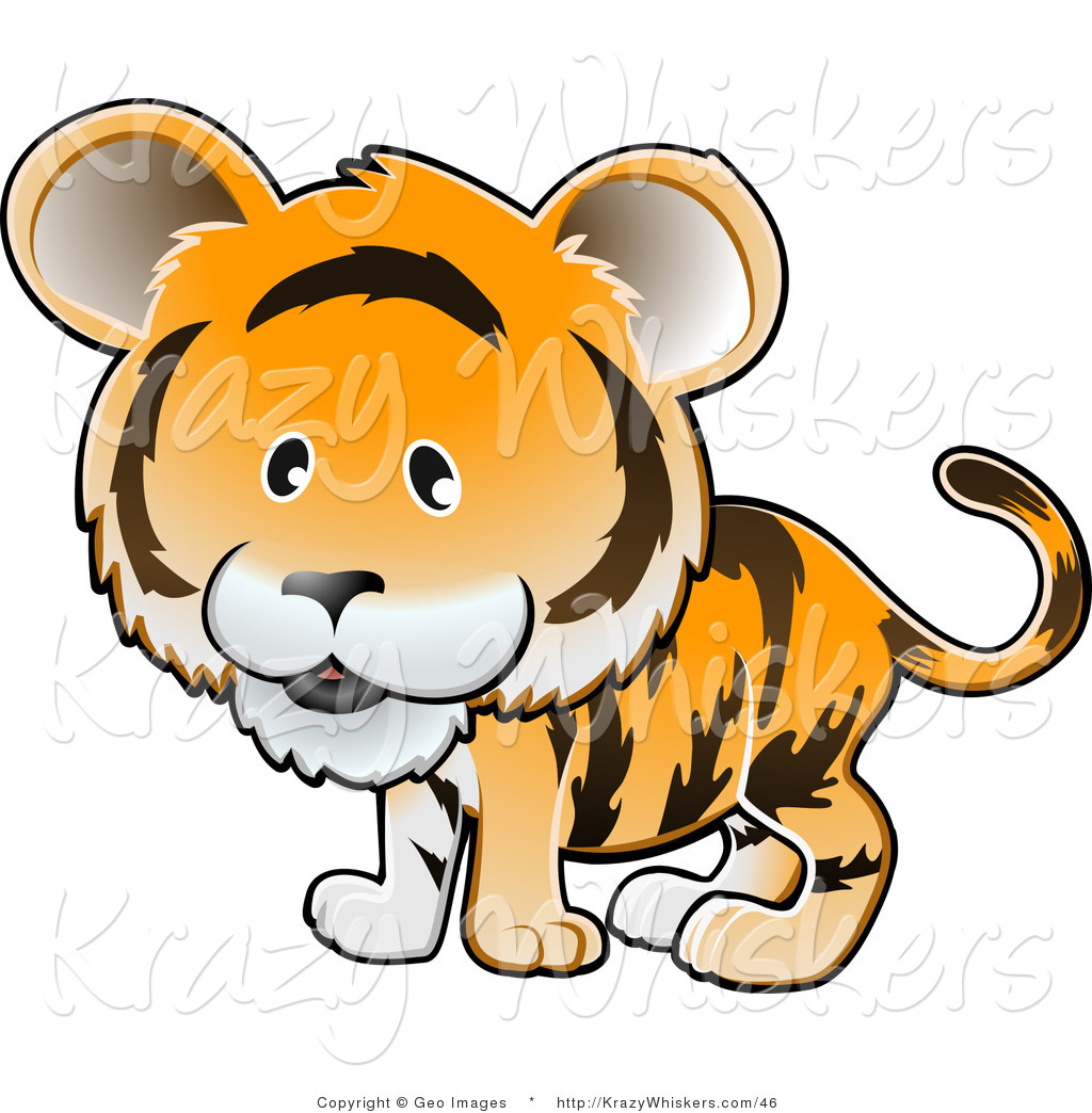 Tiger clipart orange #9