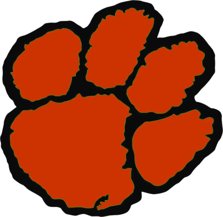 Tiger clipart red #5