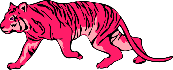 Tiger clipart red #10