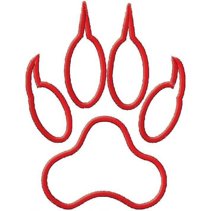 Tiger clipart red #13