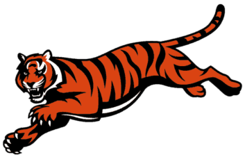 Tiger clipart red #14