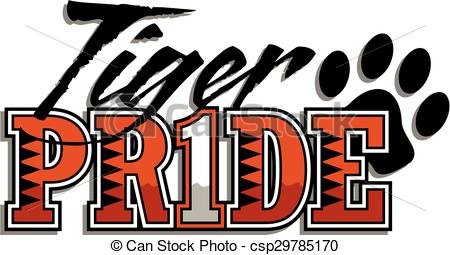Tiger clipart red #12