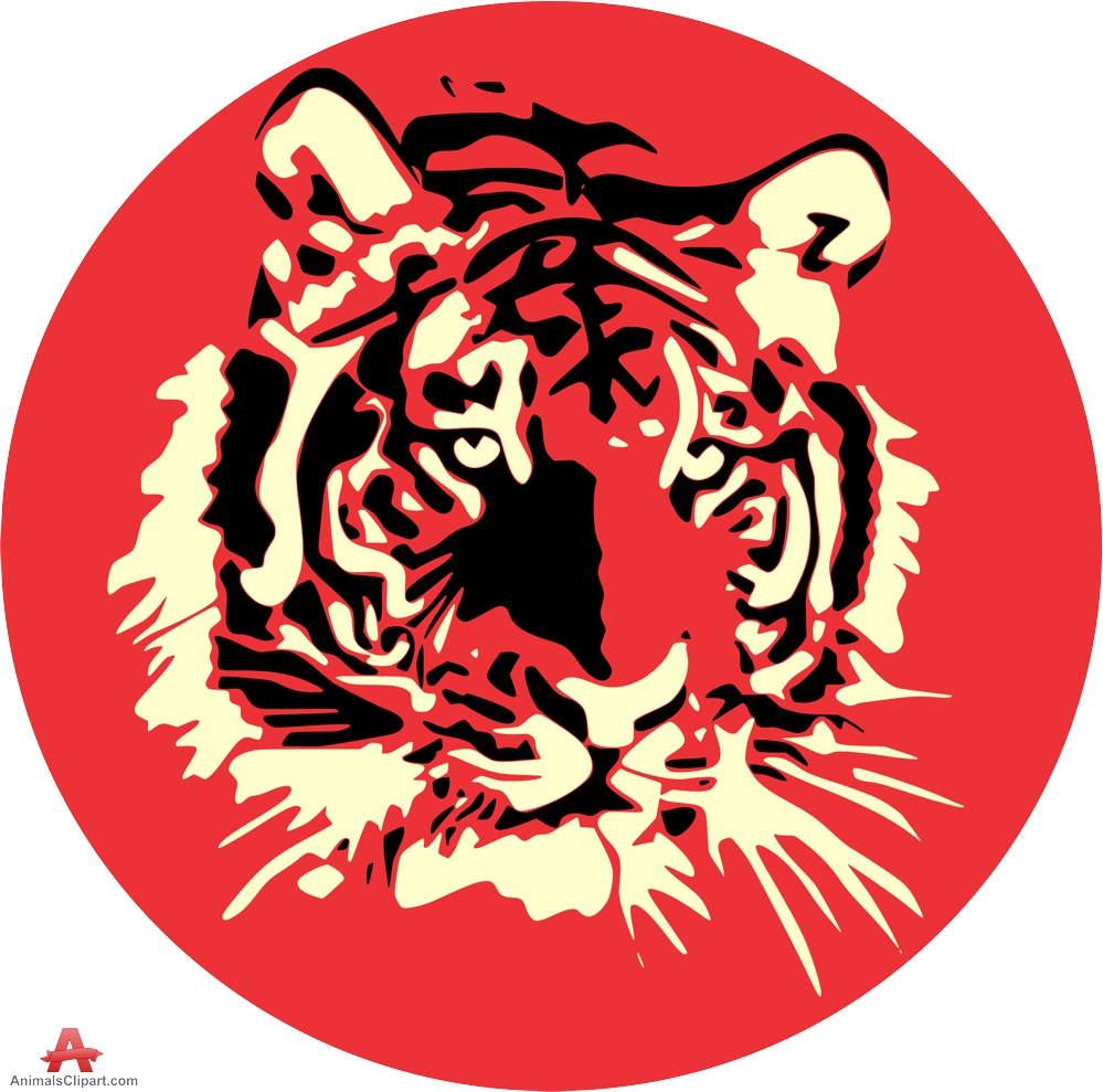 Tiger clipart red #1