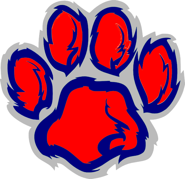 Tiger clipart red #9