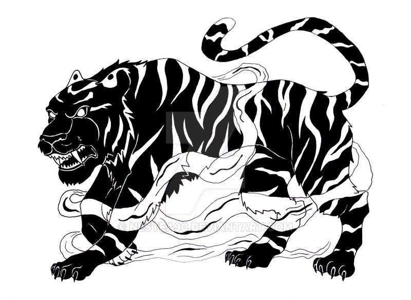 Tiger clipart shadow #9