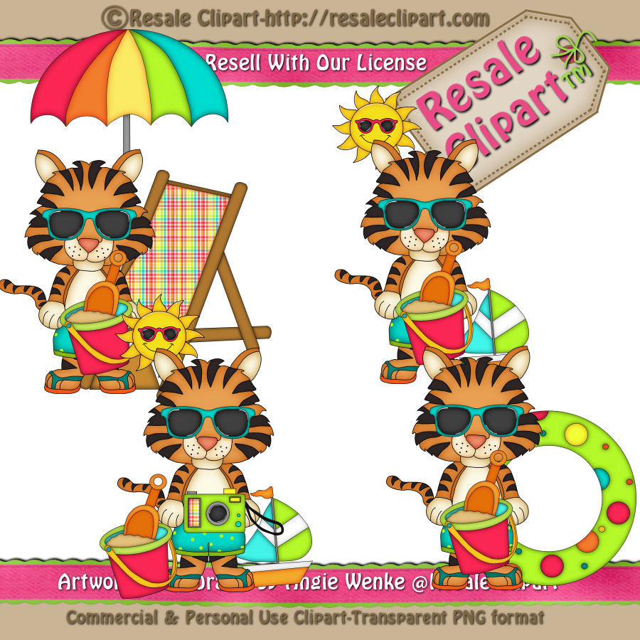 Tiiger clipart swimming #6