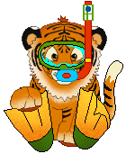 Tiiger clipart swimming #10