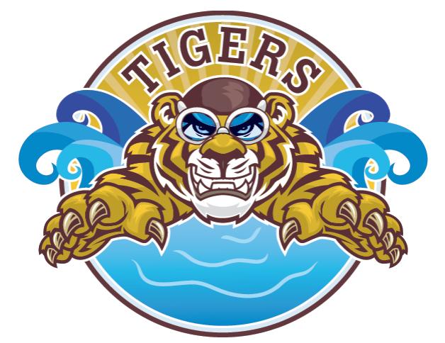 Tiger clipart swimming #5