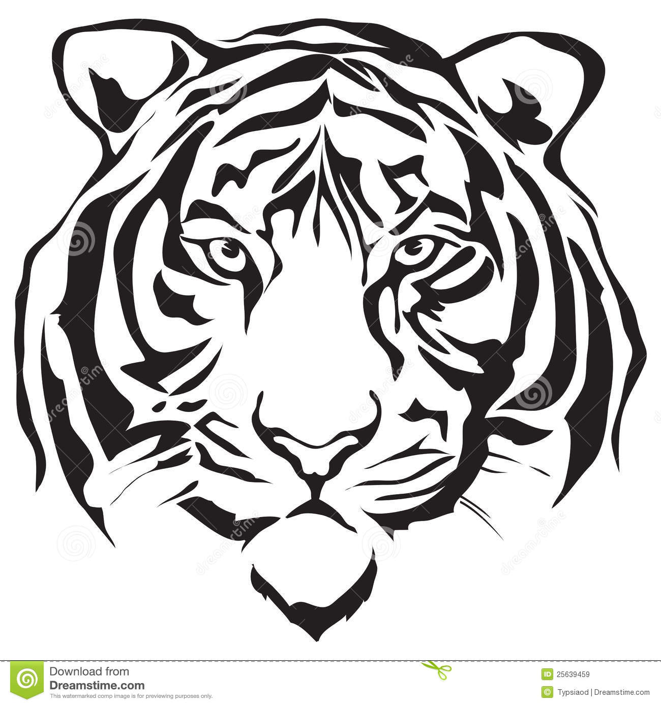 Tiiger clipart tiger face #13