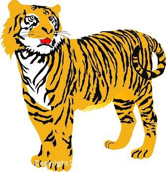 Tiger clipart transparent background #15