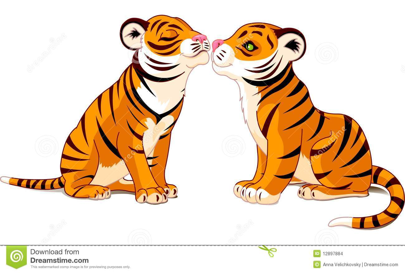 White Tiger clipart two Sugar Clipart Tigers Cookies Two