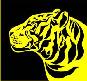 Tiger clipart yellow #7