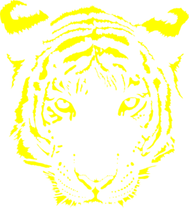 Tiger clipart yellow #9