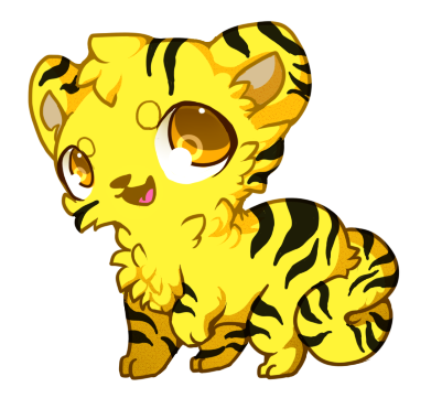 Tiger clipart yellow #10