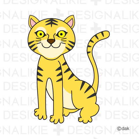 Tiger clipart yellow #12