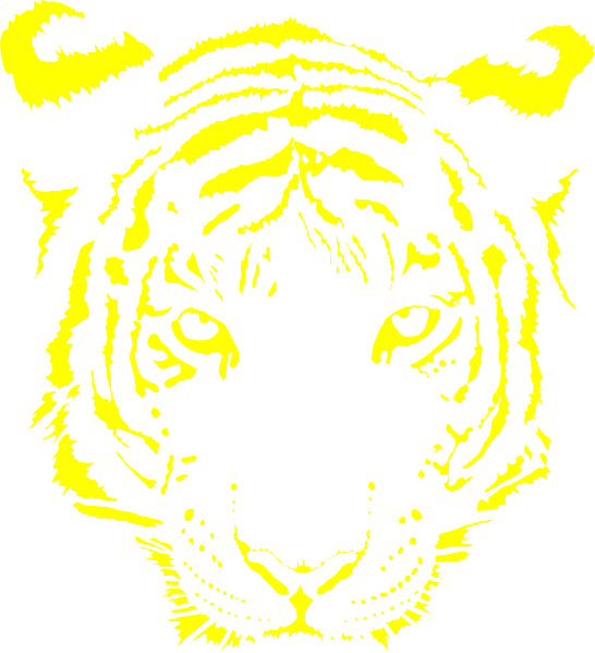 Tiger clipart yellow #4