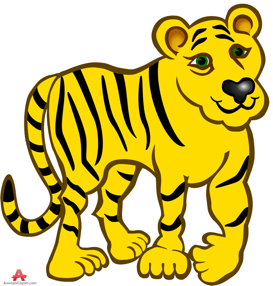 Tiger clipart yellow #5